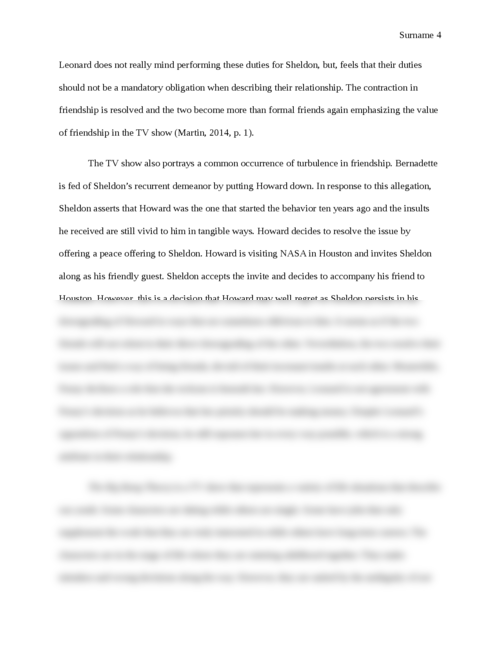 Value of friendship in The Big Bang Theory and Cathedral - Page 4