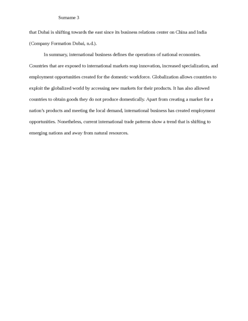 Importance of International Business for the Economy - Page 3