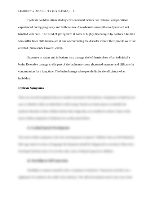 Learning disability (Dyslexia) - Page 6