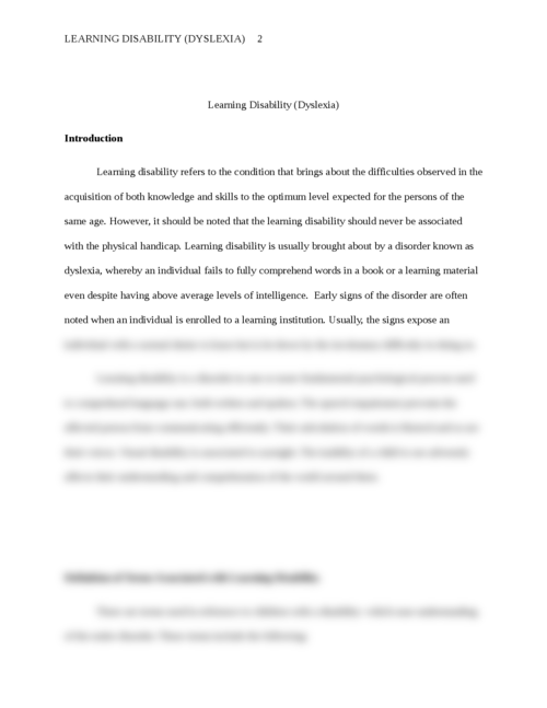 Learning disability (Dyslexia) - Page 2