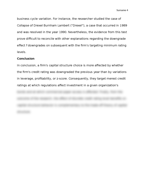 Do Firms Target Credit Ratings or Leverage Levels? Article Review - Page 4