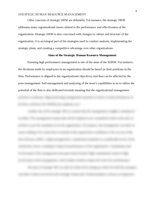 strategic human resource management - Page 4