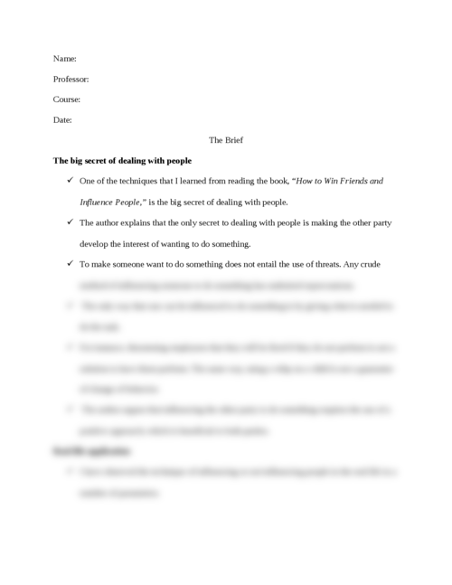 The big secret of dealing with people - Page 1