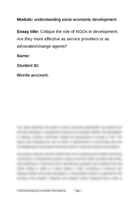 understanding socio-economic development - Page 1