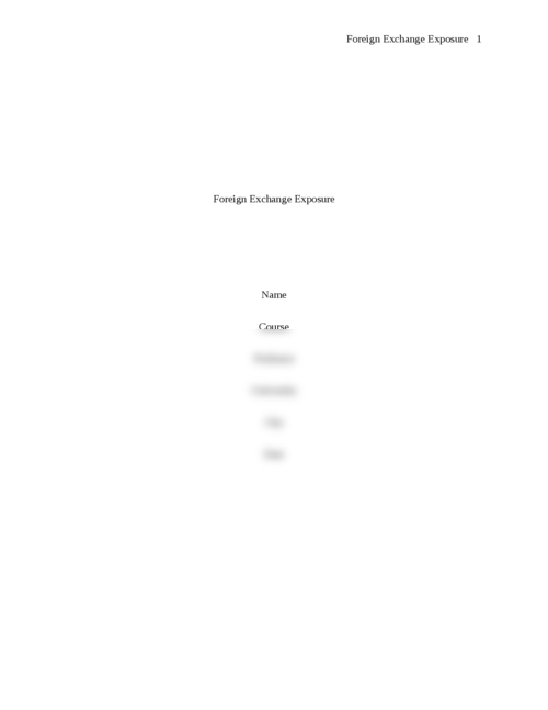 Foreign Exchange Exposure - Page 1
