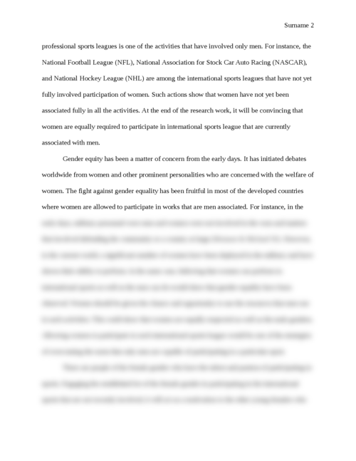 Women and Professional Sports - Page 2