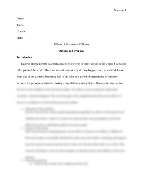 effect of divorce on children - Page 1