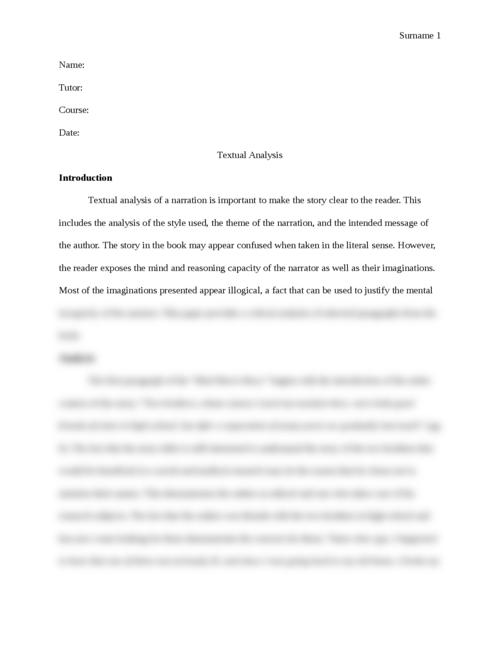 Textual Analysis - Page 1